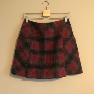 Woolrich wool plaid skirt